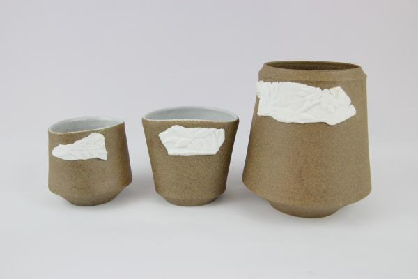 Chinese Porcelain on Stoneware vessels